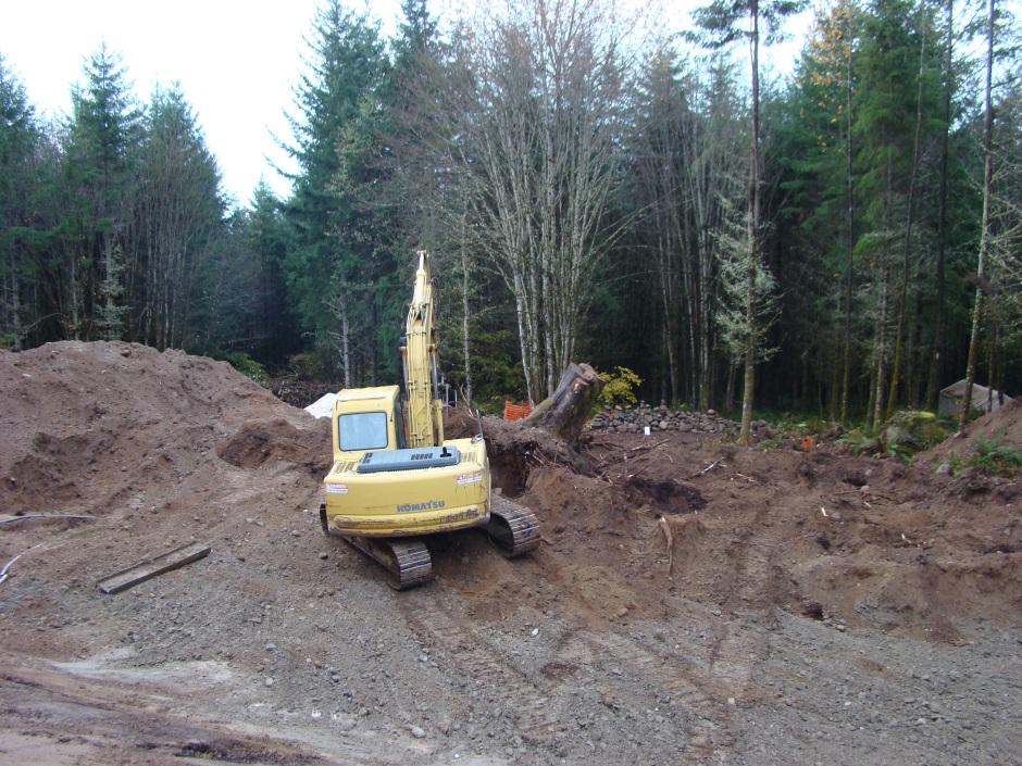 Excavator big maple starting