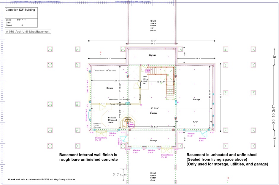 Floor plan basement plumbing