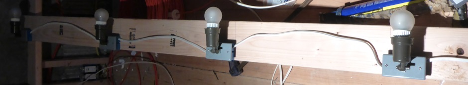 Attic lighting wooden strip
