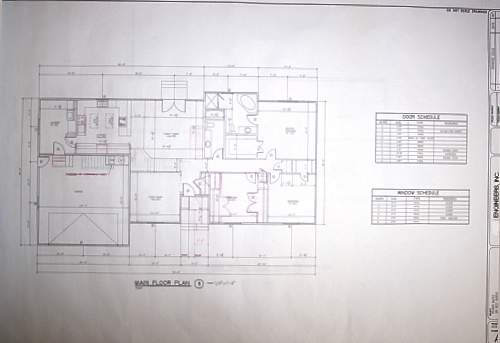 Blueprint example main floor with notes