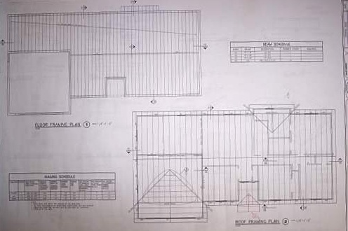 Blueprint example framing details