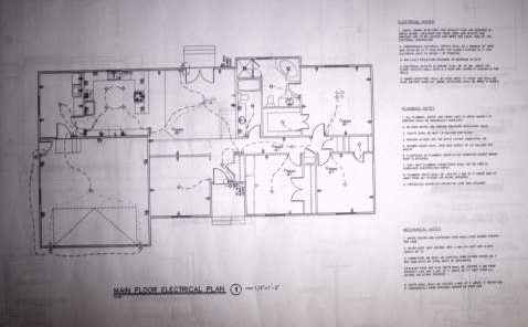 Blueprint example electrical with notes