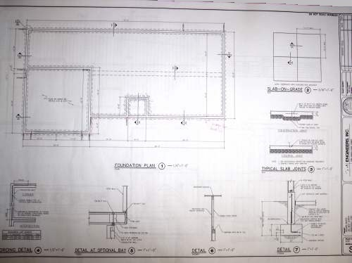 Blueprint example foundation details