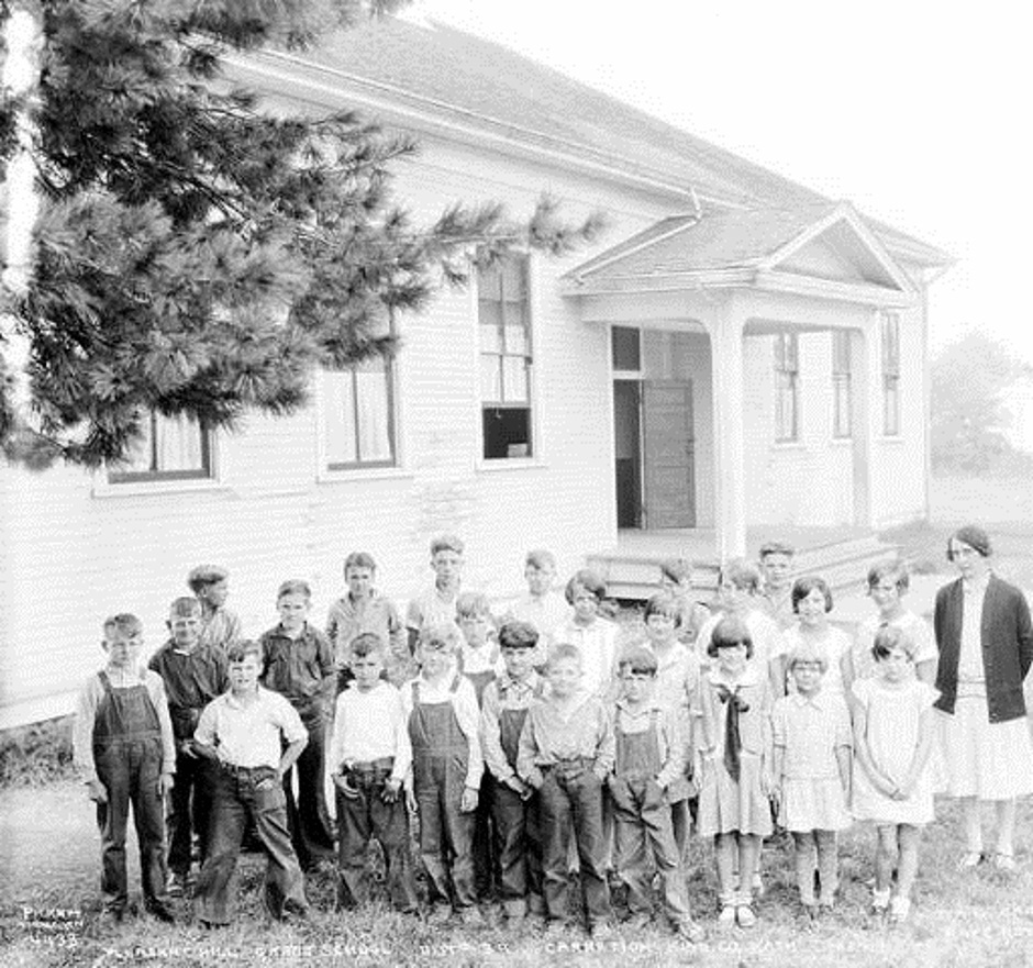 Carnation Students At The Pleasant Hill Grade School 1929