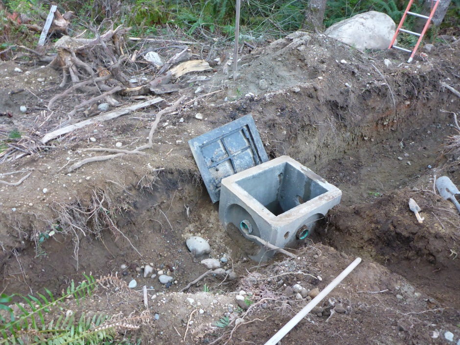 Catch Basin In Trench Digging Input