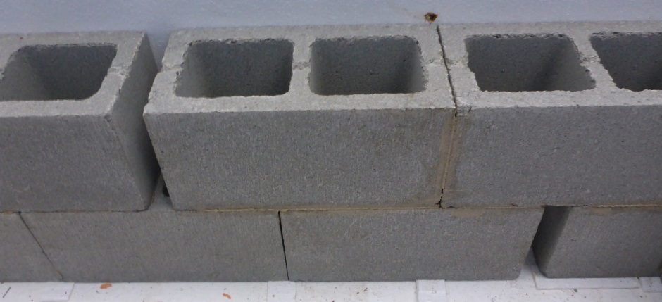 Concrete Block Gaps In Wall