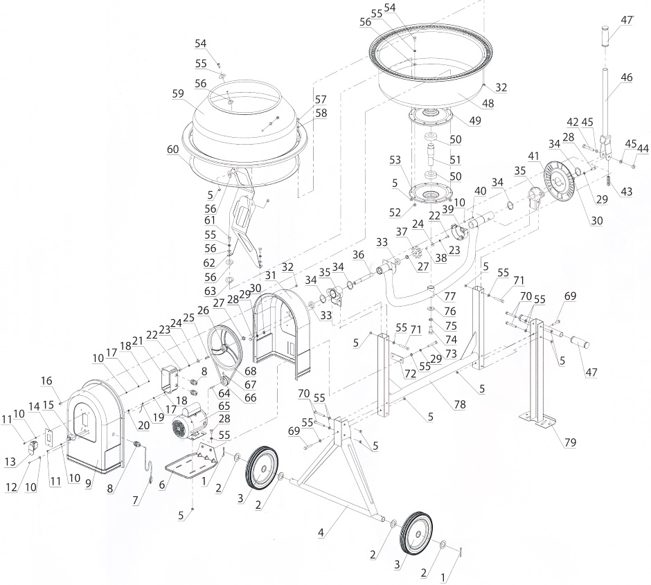 Tool Concrete Mixer