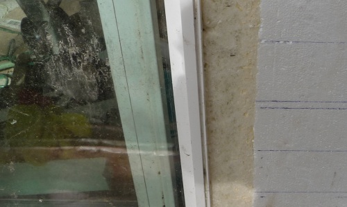 Cut window foam flush