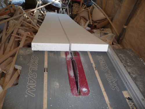 Cut window sills 9-3/4