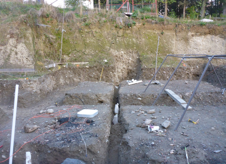 Drainage Trench With Filtered Soil
