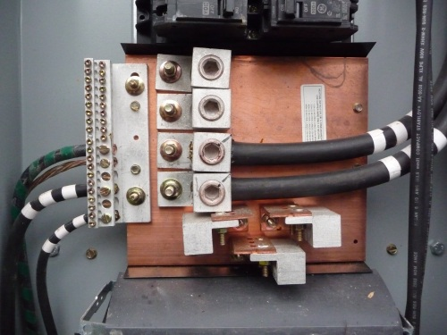 Electrical neutral plate in main panel