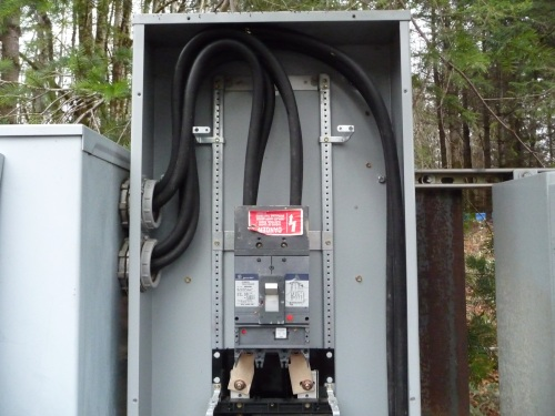 Service entry wires into main panel