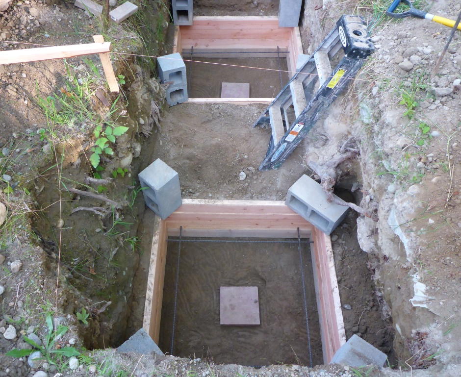Filled Around Deck Leg Footings