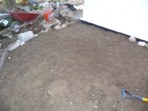 Flat soil for water tank