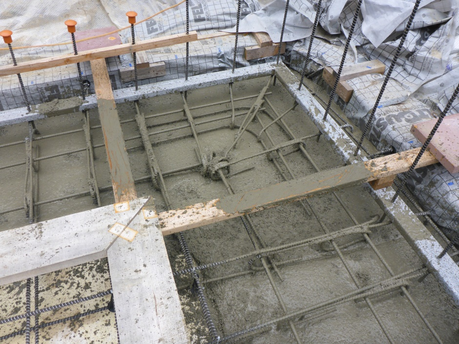 Footing Poured Corner