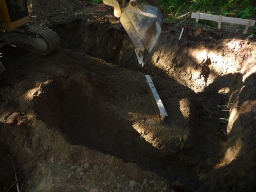 Footings half done