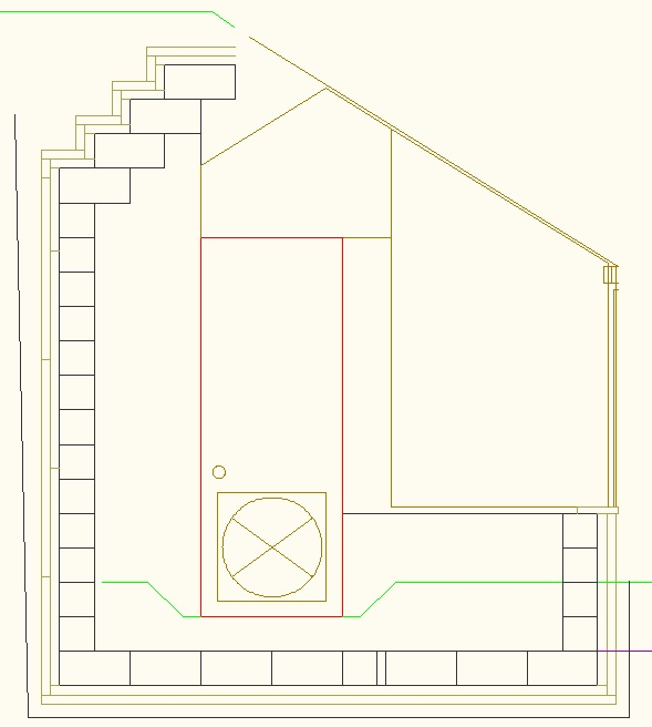 Insulated Block Building Greenhouse Drawing