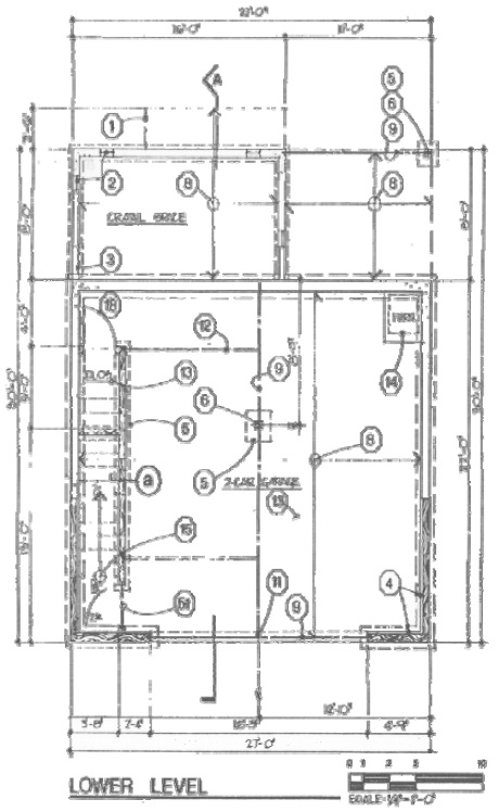 King County floor plan lower level