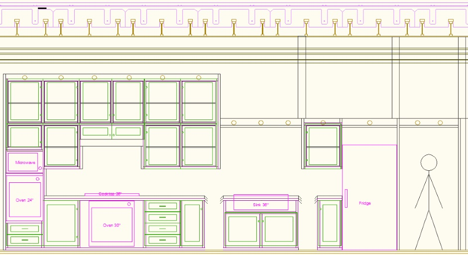 Kitchen Drawing Elevation Unwrapped