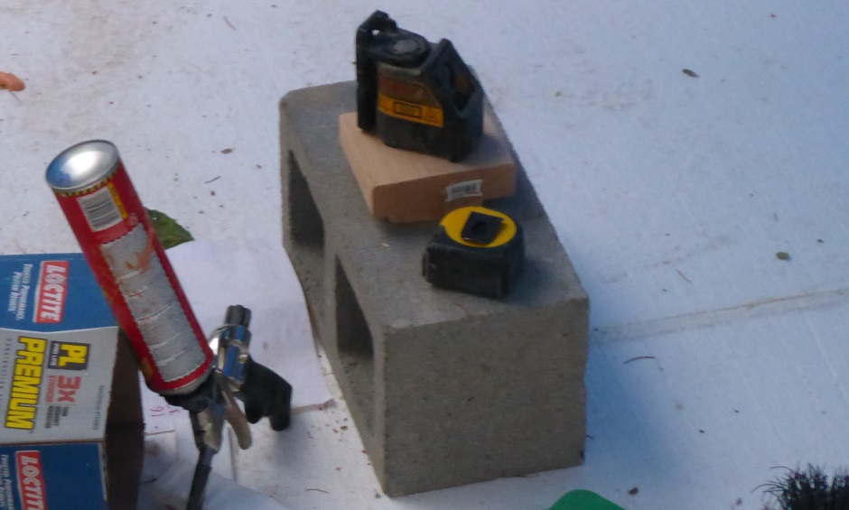 Laser In Center For Leveling Blocks