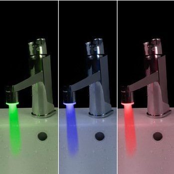 LED temperature faucets