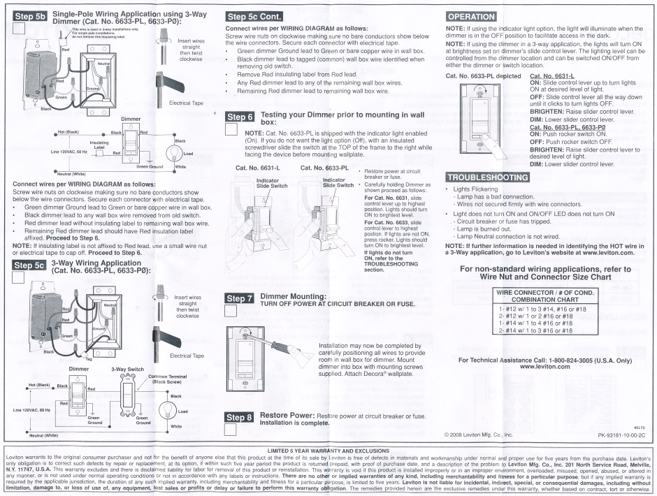 Levitron Dimmer Instructions