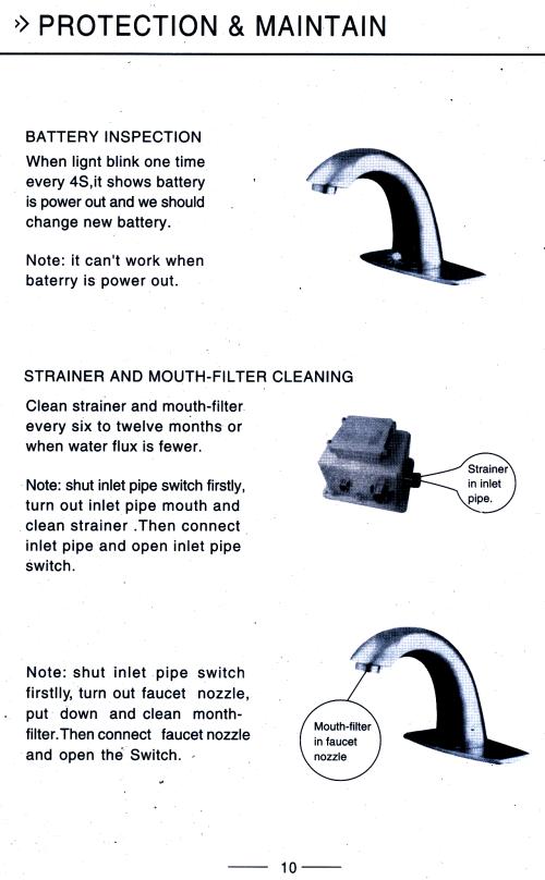 Plumbing Motion Sensor Faucet Bathroom Sink