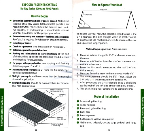 Nu-Ray metal roof installation