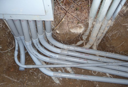 Second set of conduit at main panel