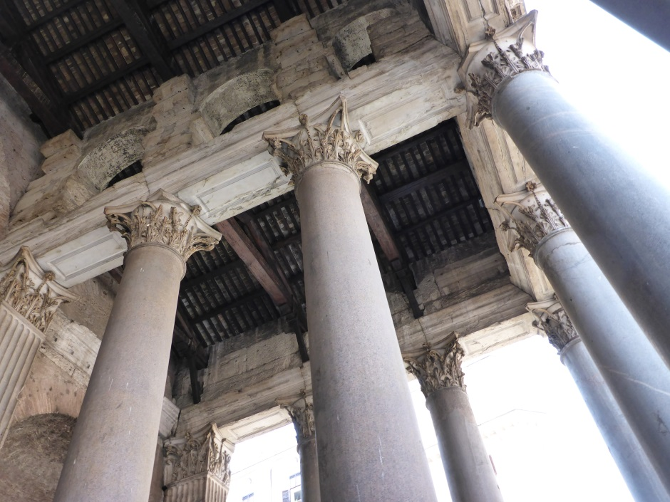 Pantheon Rome Portico Roof Underside