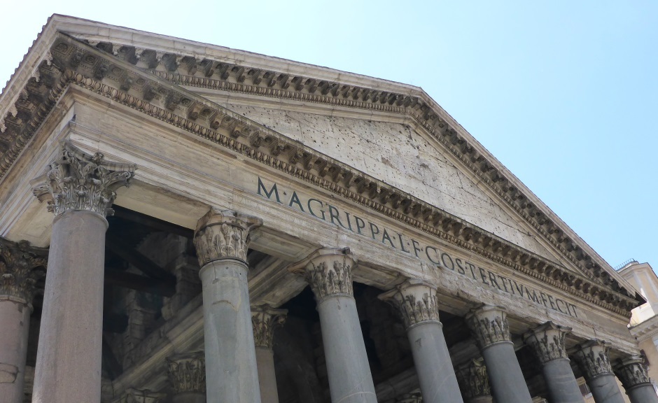 Pantheon Rome Portico Top