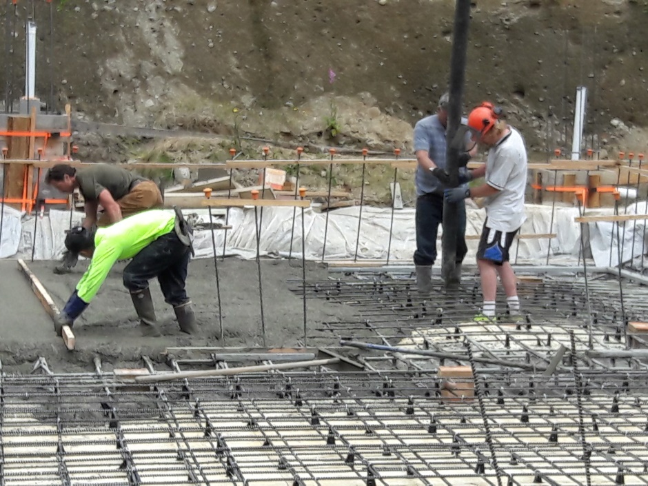 Pouring And Screeding East Slab