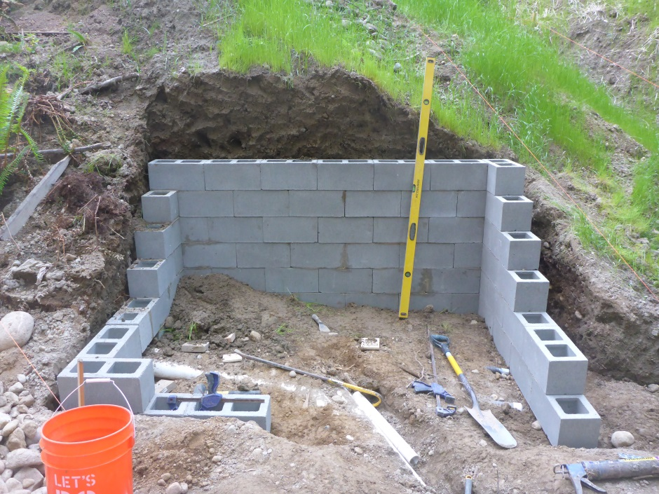 Rain Pump Shelter Back Wall