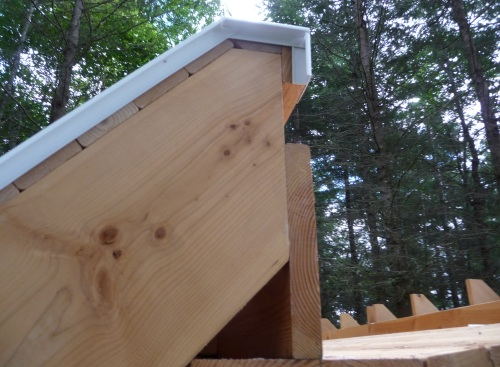 Roof end drip edge