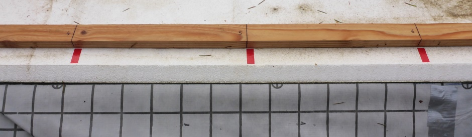 Setting Rebar Vertical Marking Stick Tape