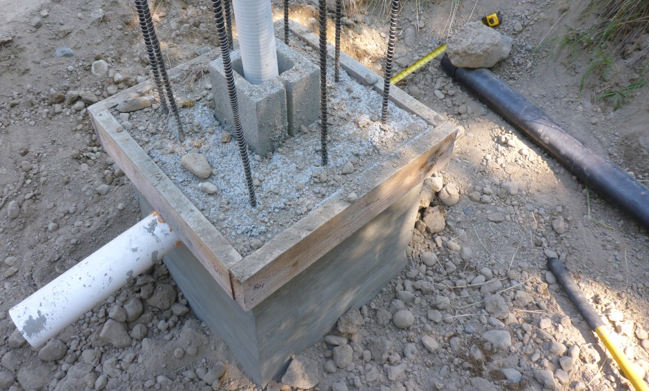 Sewer For Extension 30in From Column Concrete