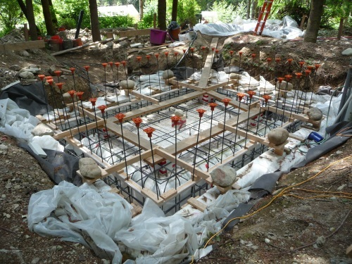 Site foundations ready to pour