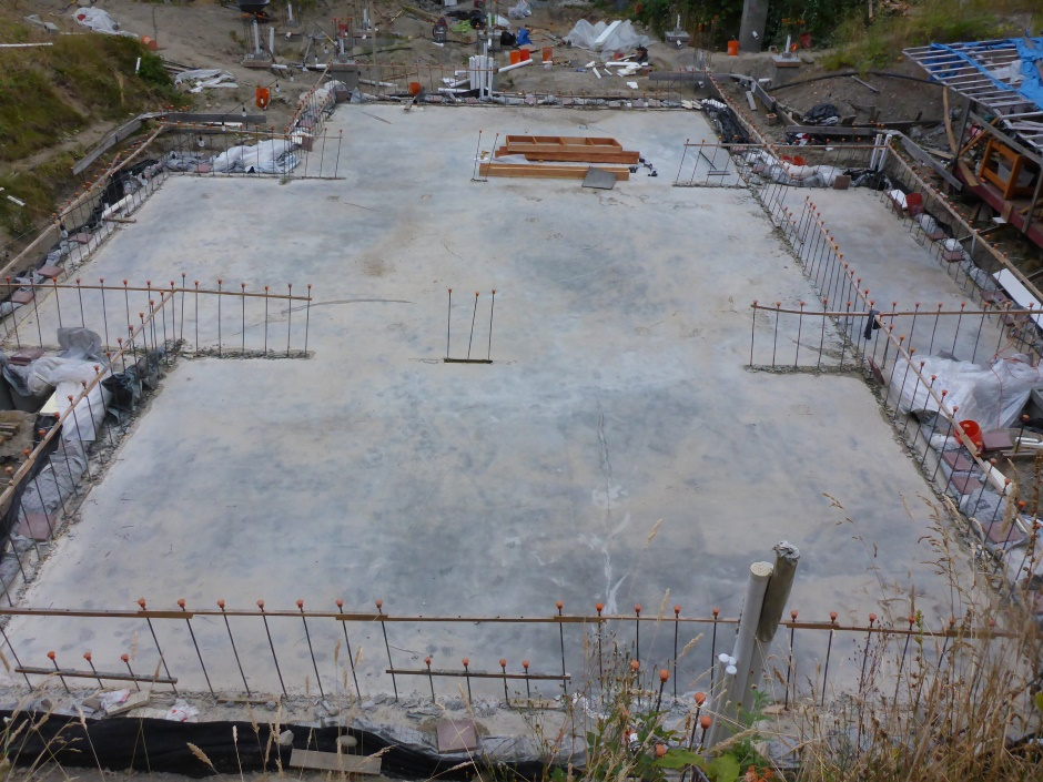 Site Slab Dried
