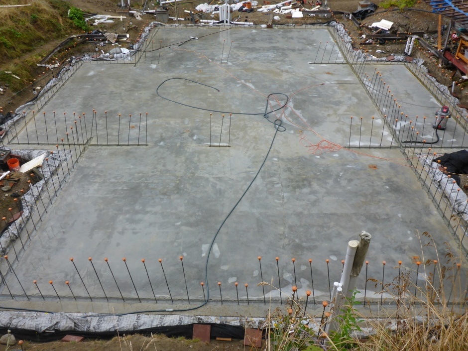Site Washed Slab Cleaned