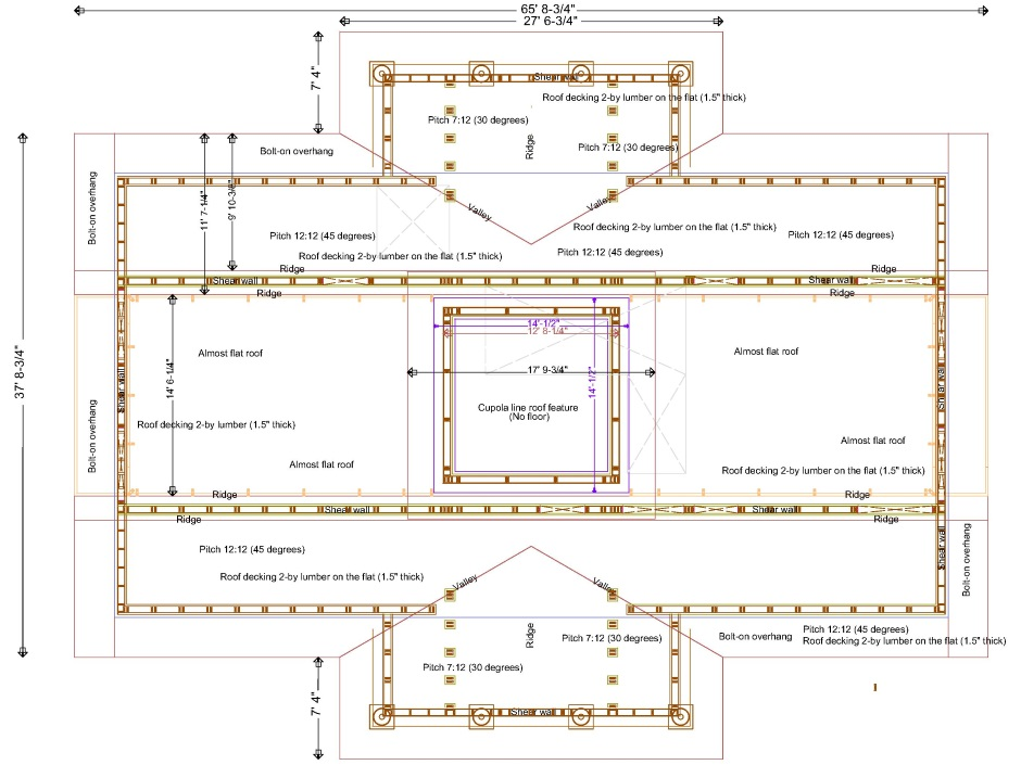 Carnation construction for Flat roof plan drawing