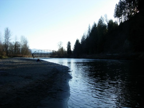 Snoqualmie river bridge