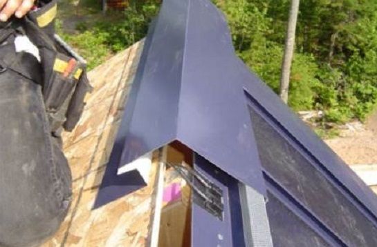 Solar Metal Roof Cap Hides Wires
