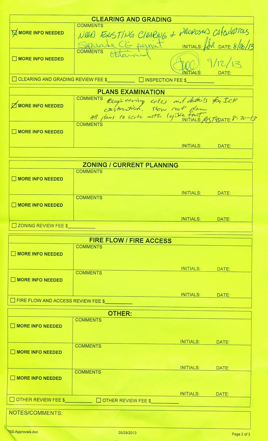 King County submital form