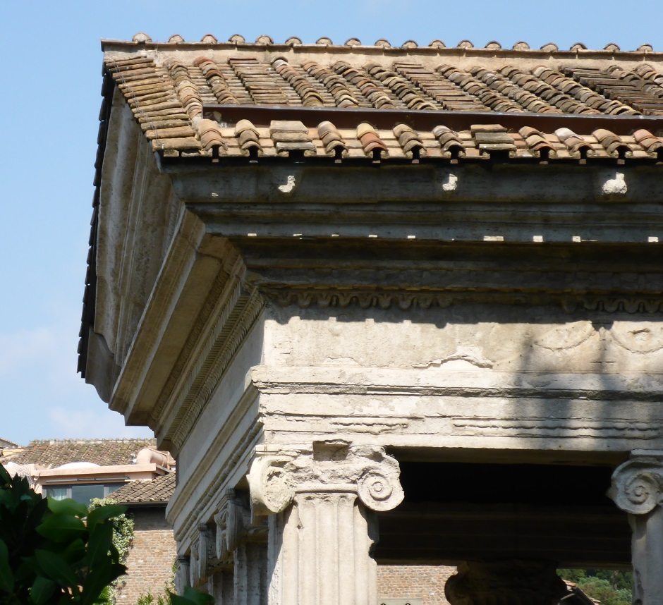 Temple Of Portunus Roof Side