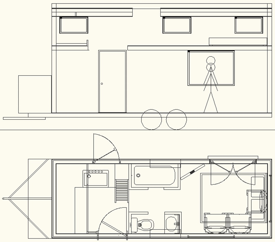 Tiny House Layout Drawing