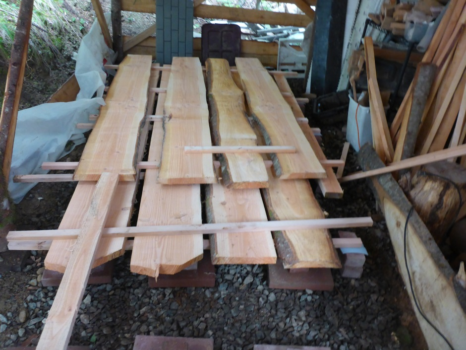 Wood Drying Pile